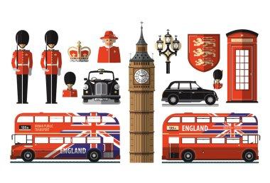 England, London, UK. Set icons