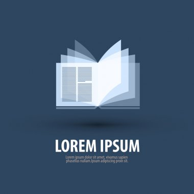 Book. Logo, icon, symbol, template, emblem