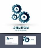 Photo Business vector logo design template. Gear or work icon.