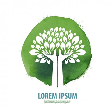 tree. logo, icon, sign, emblem, template
