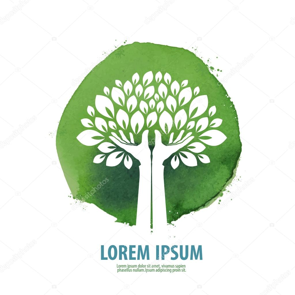 tree. logo, icon, sign, emblem, template