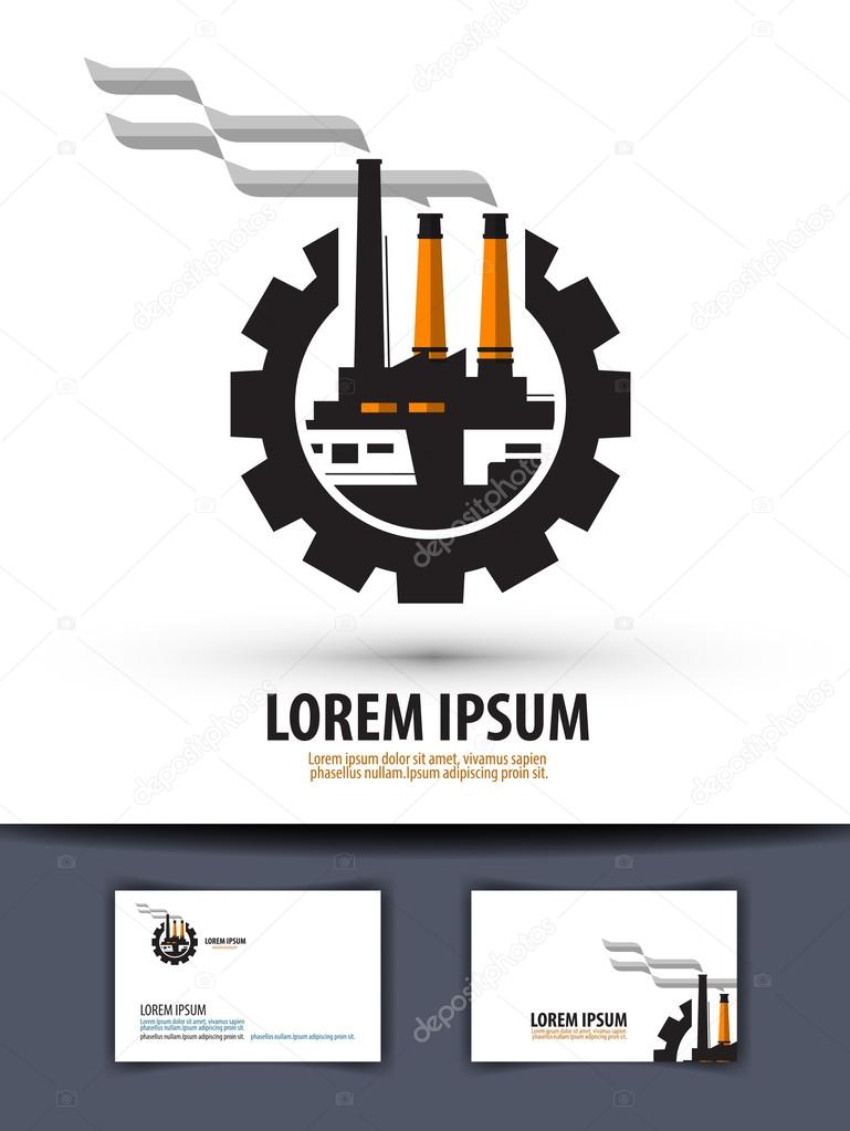 Factory plant logo icon sign emblem template business card factory plant logo icon sign emblem template business card reheart Images