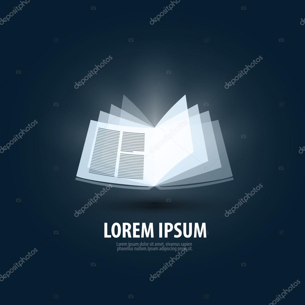 Buch. Logo, Symbol, Zeichen, Wappen, Vorlage — Stockvektor ...