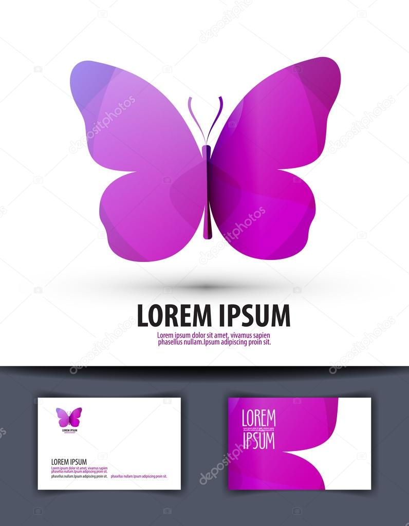 butterfly. Logo, sign, icon, emblem, template, business card