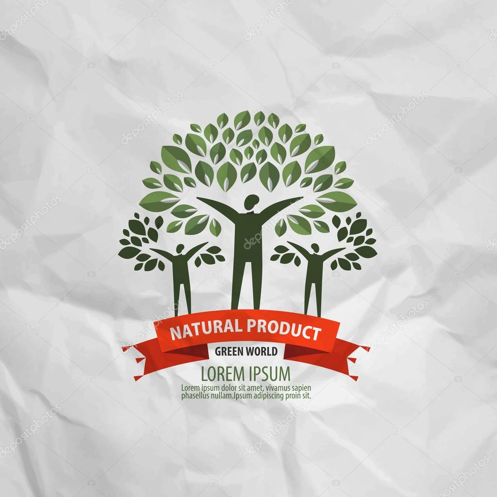 nature vector logo design template. ecology or bio icon.