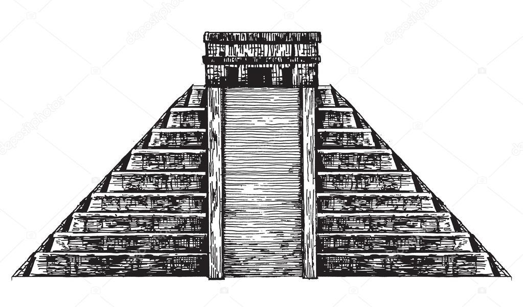 México. Pirámide De México Sobre