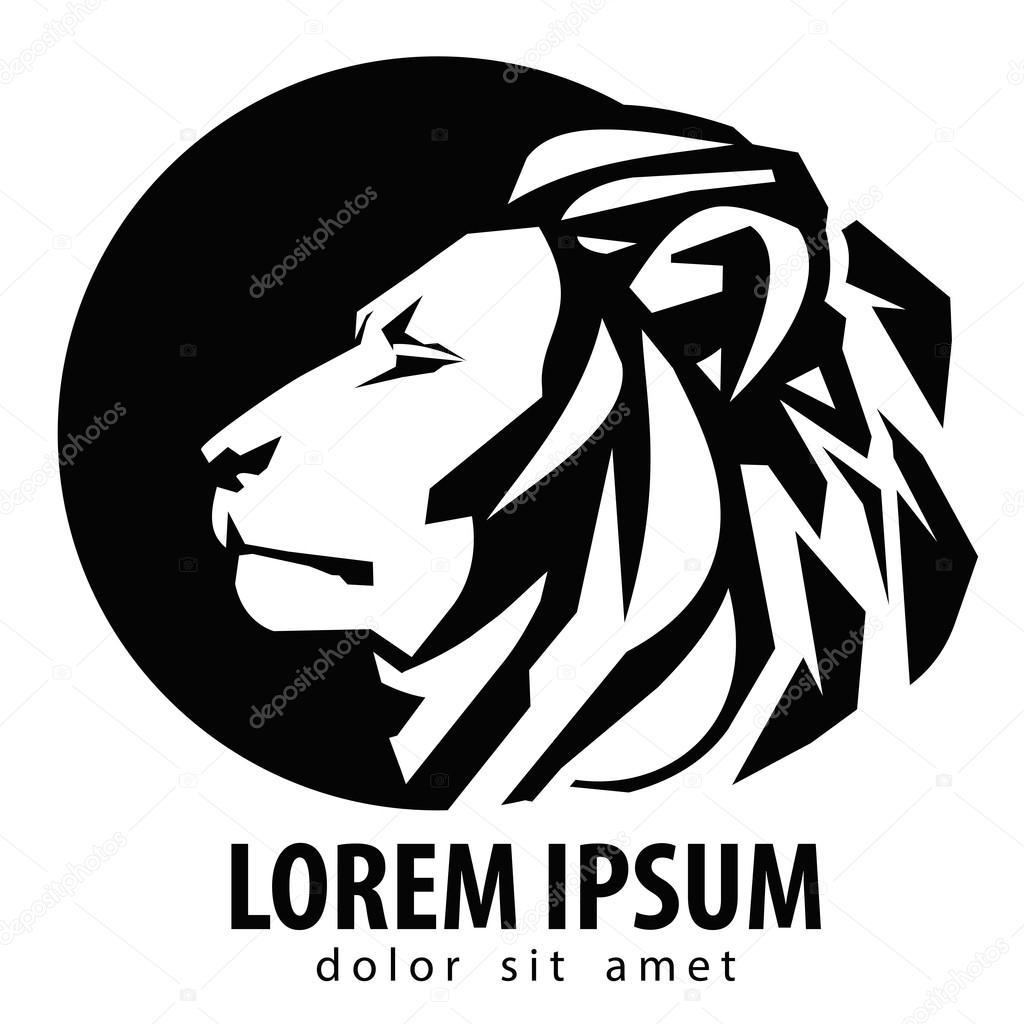 lion logo design template wildlife or zoo icon stock vector