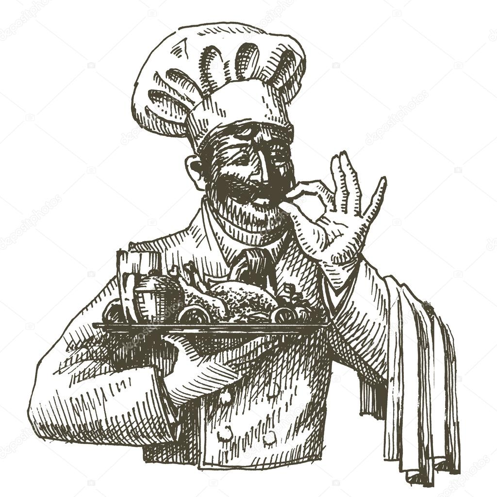 chef, cocinero vector plantilla de diseño de logotipo. alimentos ...