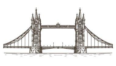 England vector logo design template. London or bridge icon.