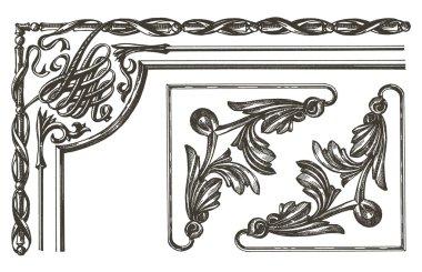 ornament vector logo design template. frame or decoration icon.