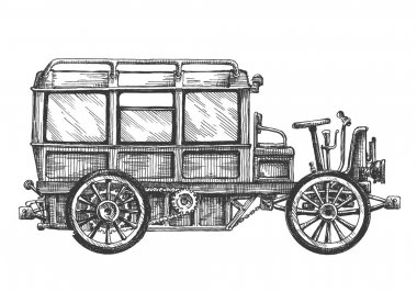 retro car vector logo design template. vehicle or bus icon.