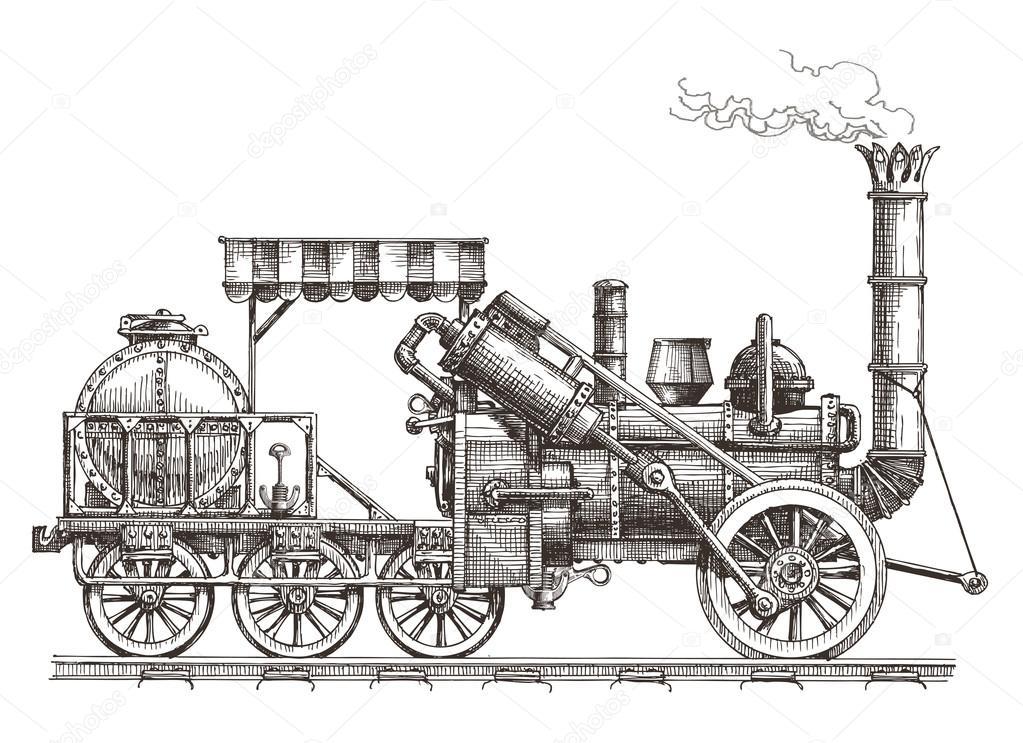 train vector logo design template. steam locomotive or transport icon.