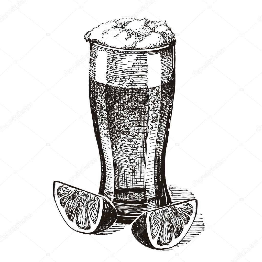 beer vector logo design template. pub or drink icon.