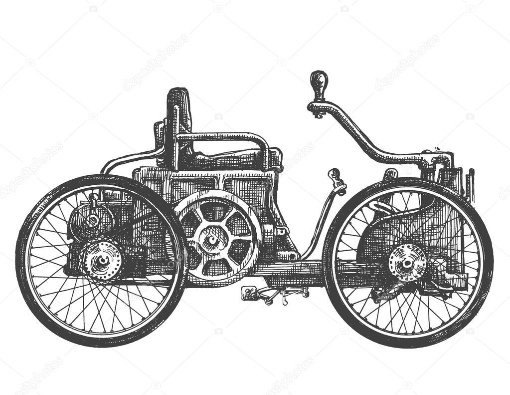 plantilla de diseño de logo de vector de coche antiguo. icono de ...