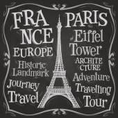 Paříž Eiffelova věž ikona