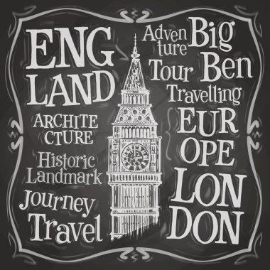 London, Big Ben logo design