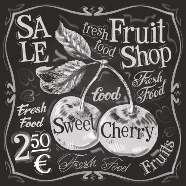 Ripe Cherry logo design template