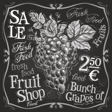 Grapes logo design template
