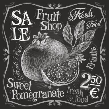 Pomegranate logo design template