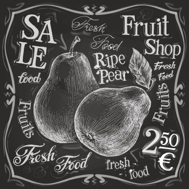 Ripe pear logo design template