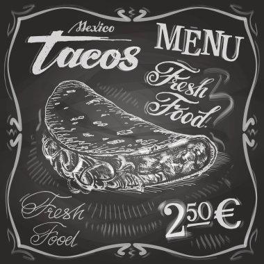 Burritos, tacos logo design template