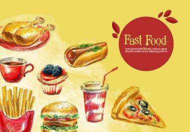 Fast food logo design template