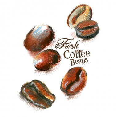 Fresh coffee logo design template