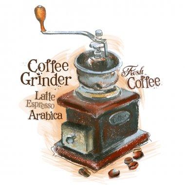 Fresh coffee logo design template