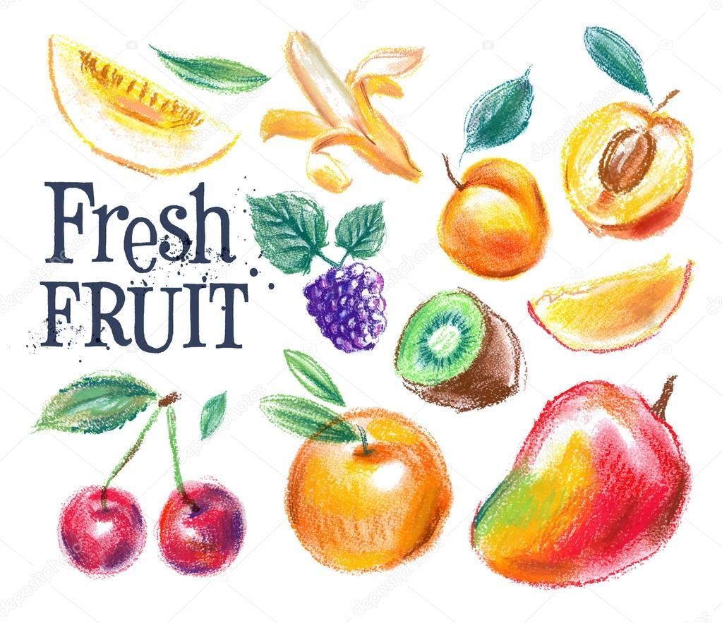 Fresh fruit logo design template stock vector for Fresh design