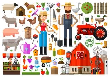 Farm, farmhouse, farmyard vector logo design template. harvest, gardening, horticulture or animals, food icon.