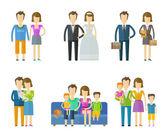 lidé, folk vektorové logo šablonu návrhu. Svatební, rodinné, svatební nebo děti ikony