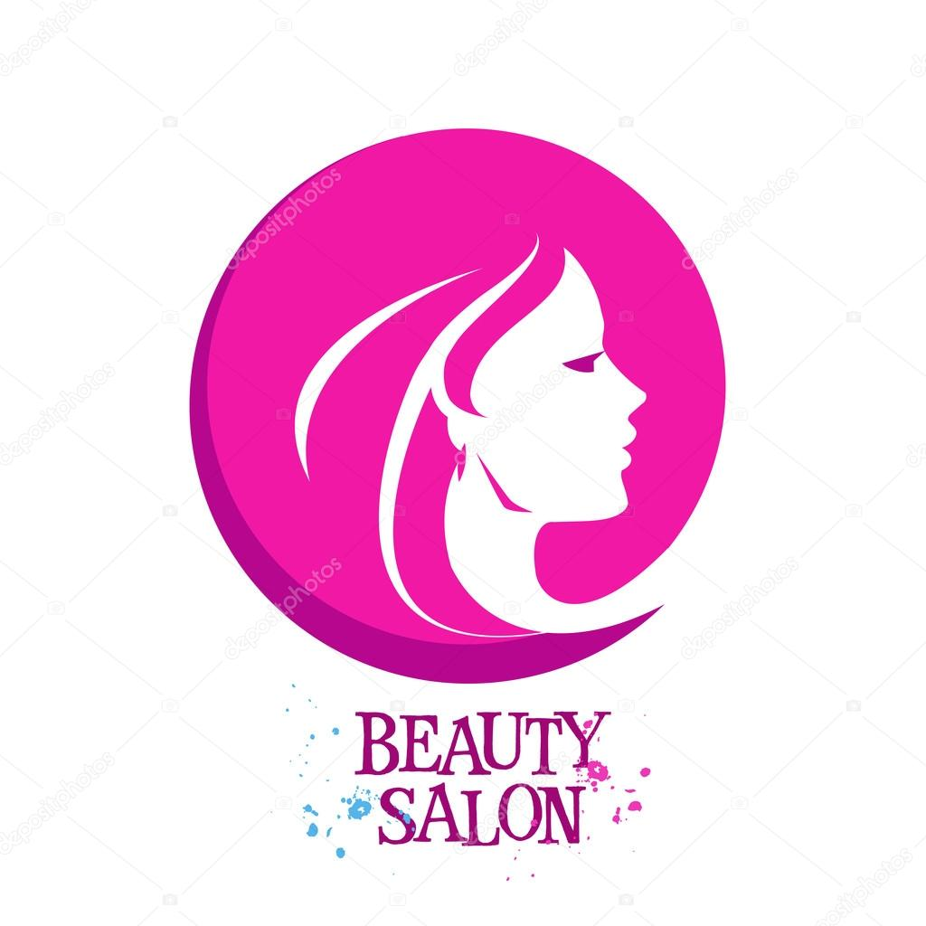beautiful woman female vector logo design template