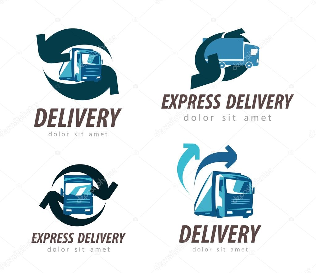 delivery vector logo design template. truck or car icon