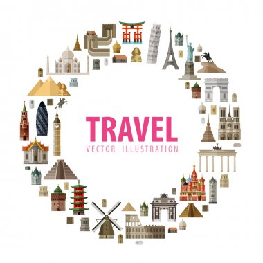 travel vector logo design template. journey or vacation icon