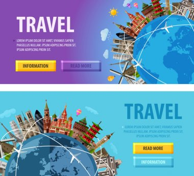 travel vector logo design template. vacation or world icon