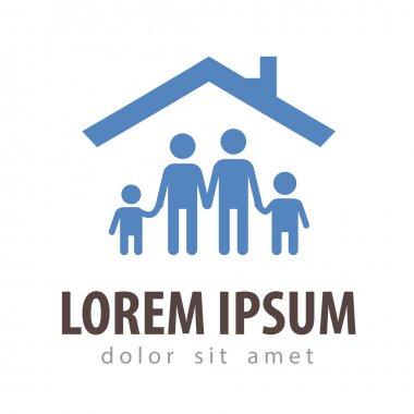 house vector logo design template. family or home icon