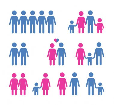 people vector logo design template. family or society icon