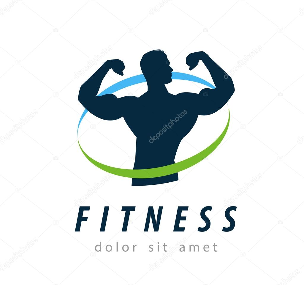 Fitness Vector Logo Design Template Health Or Gym Icon Stock