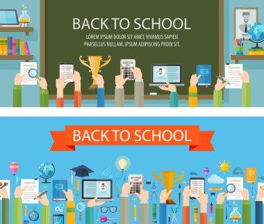 school vector logo design template. education or schooling icon