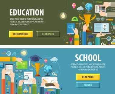 education vector logo design template. school or study icon
