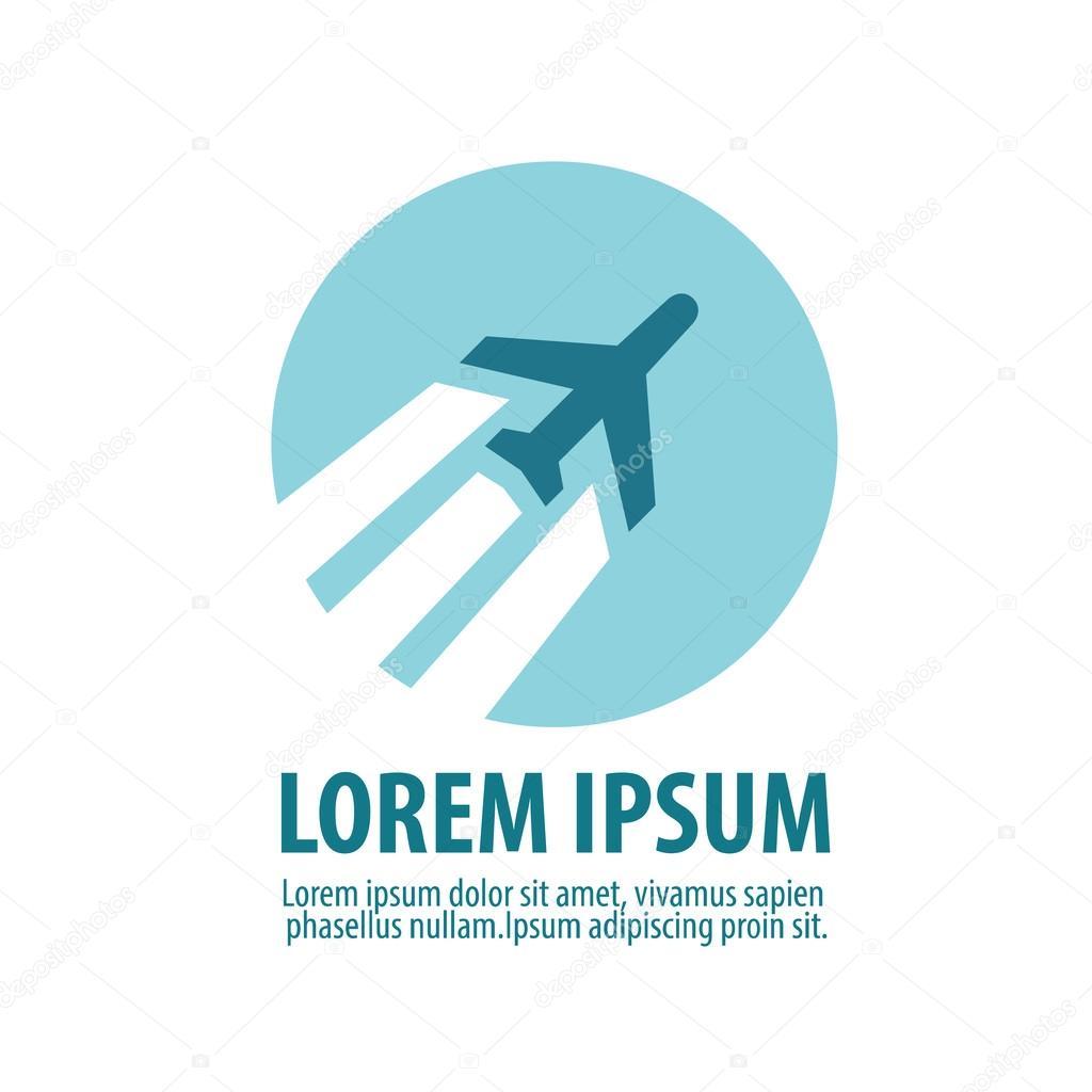 plane vector logo design template aircraft or airplane icon stock