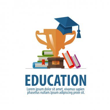 education vector logo design template. school or student icon