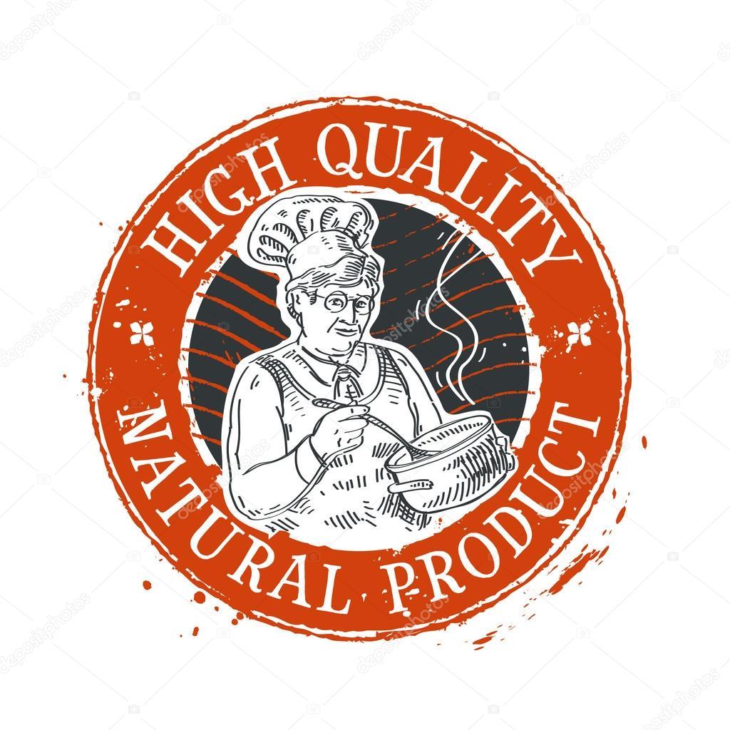plantilla de diseño de logo de vector de comida sabrosa. chef ...