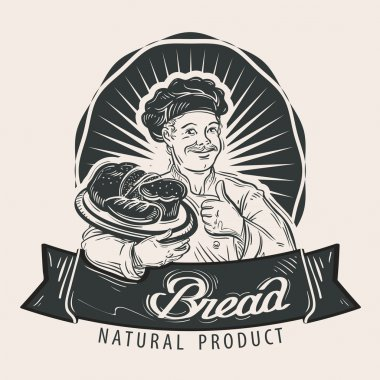 Bread vector logo design template. Cooking or bakery icon