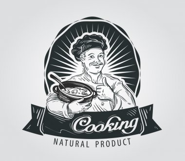 cooking vector logo design template. food or cook icon