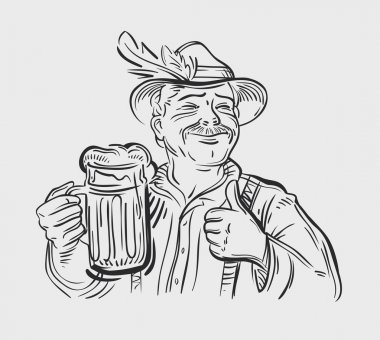 Oktoberfest vector logo. Beer, ale or drink icon