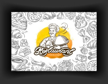 restaurant vector logo design template. cafe, eatery or dessert icons