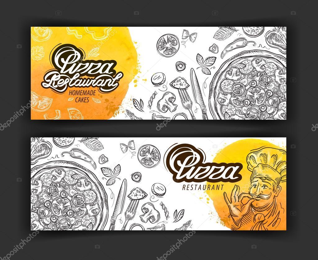 plantilla de diseño vectorial del logotipo de pizza restaurante ...