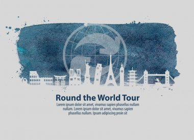 travel vector logo design template. journey or around the world icon