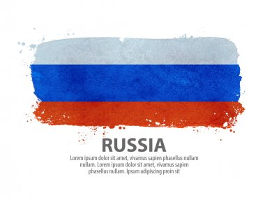 flag of Russia. Moscow. vector illustration